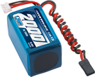 LiPo Pack LRP VTEC LiFePo 2000 RX-Pack 2/3 Hump