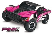 TRAXXAS Slash RTR 1/10 2.4GHz PINK-Ed Short Course Racing Truck+Akku +12V-Lader